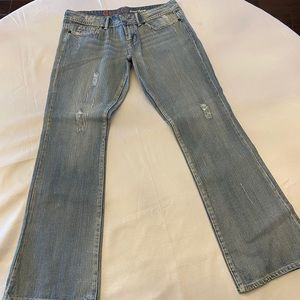 G BY GUESS Vintage Drew Flare Jeans Med Blue - 32